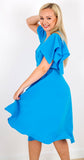 Leda Dress in Malibu Blue