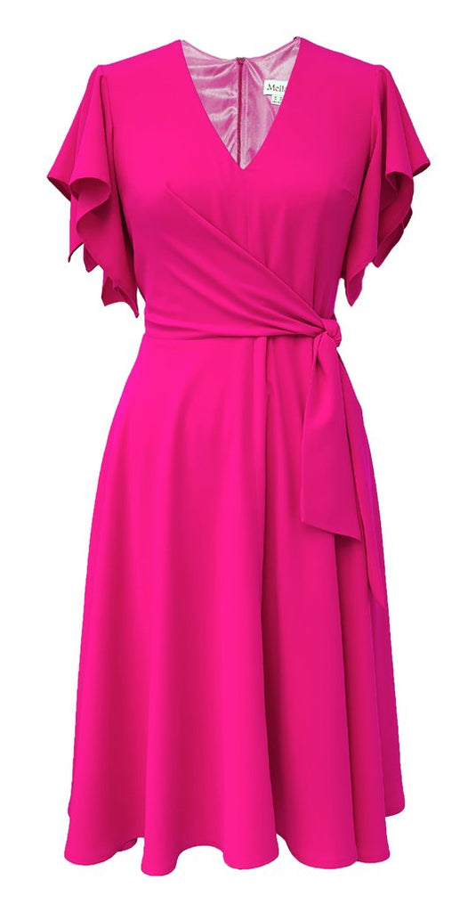 Leda Dress in Bright Pink