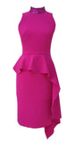 Loren Dress in Pink with Pink Sequin Neckline