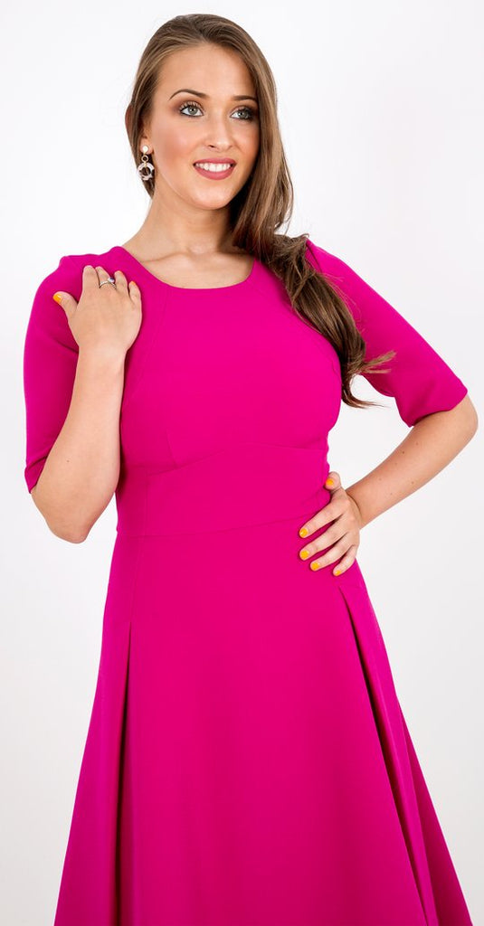 Sonya Dress in Bright Pink