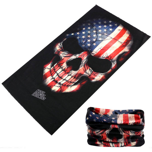 Skull-With-American-Flag-Bandana