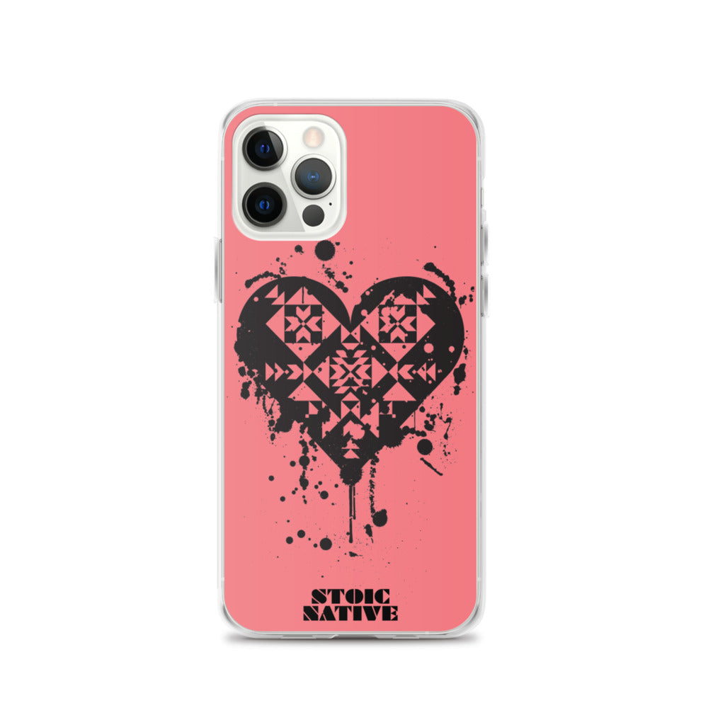 Splattered Heart iPhone Case