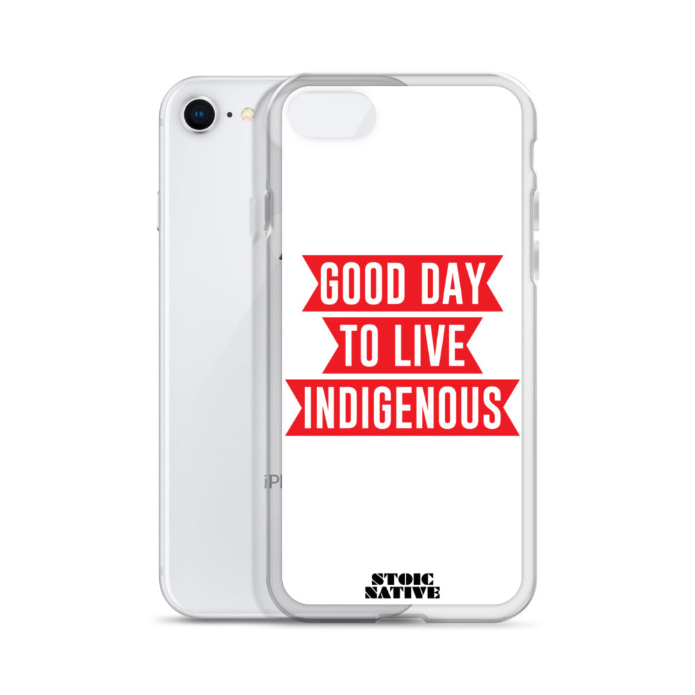 Good Day To Live Indigenous iPhone Case
