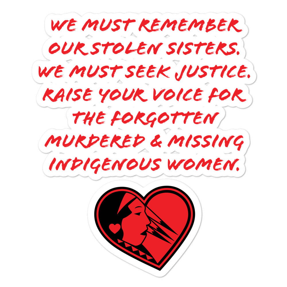 Stoic Native MMIW stickers