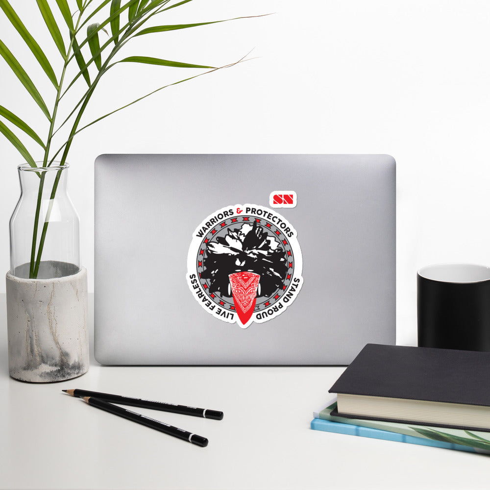 Native Warriors Bubble-free stickers
