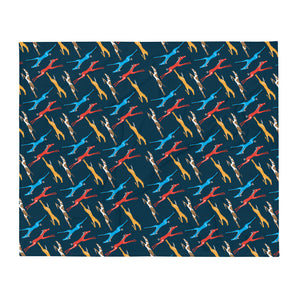 Horse Herd Throw Blanket