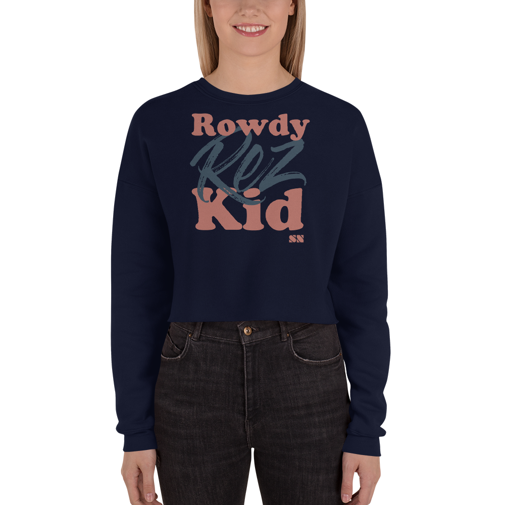Rowdy Rez Kid Crop Sweatshirt