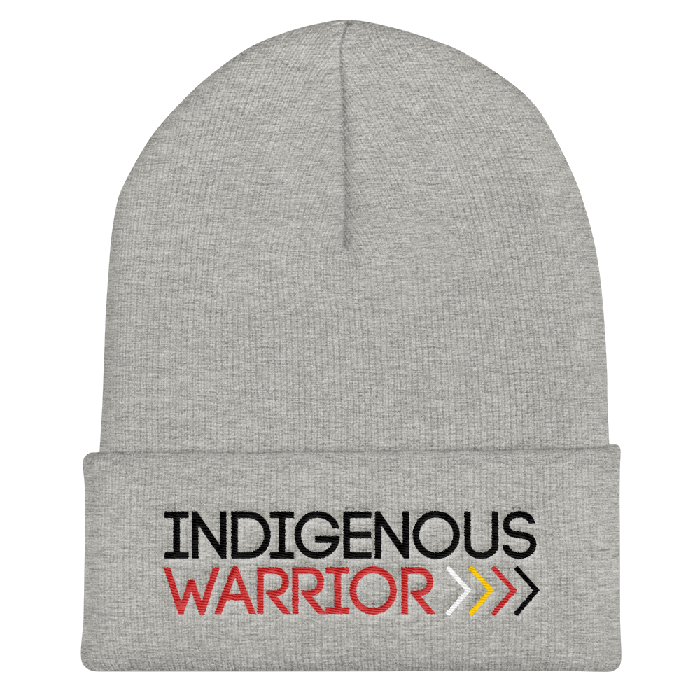 Indigenous Warrior Cuffed Beanie