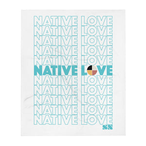 Native Love Throw Blanket