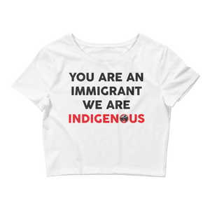 We are Indigenous Crop Tee
