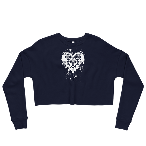 Splatter Heart Crop Sweatshirt