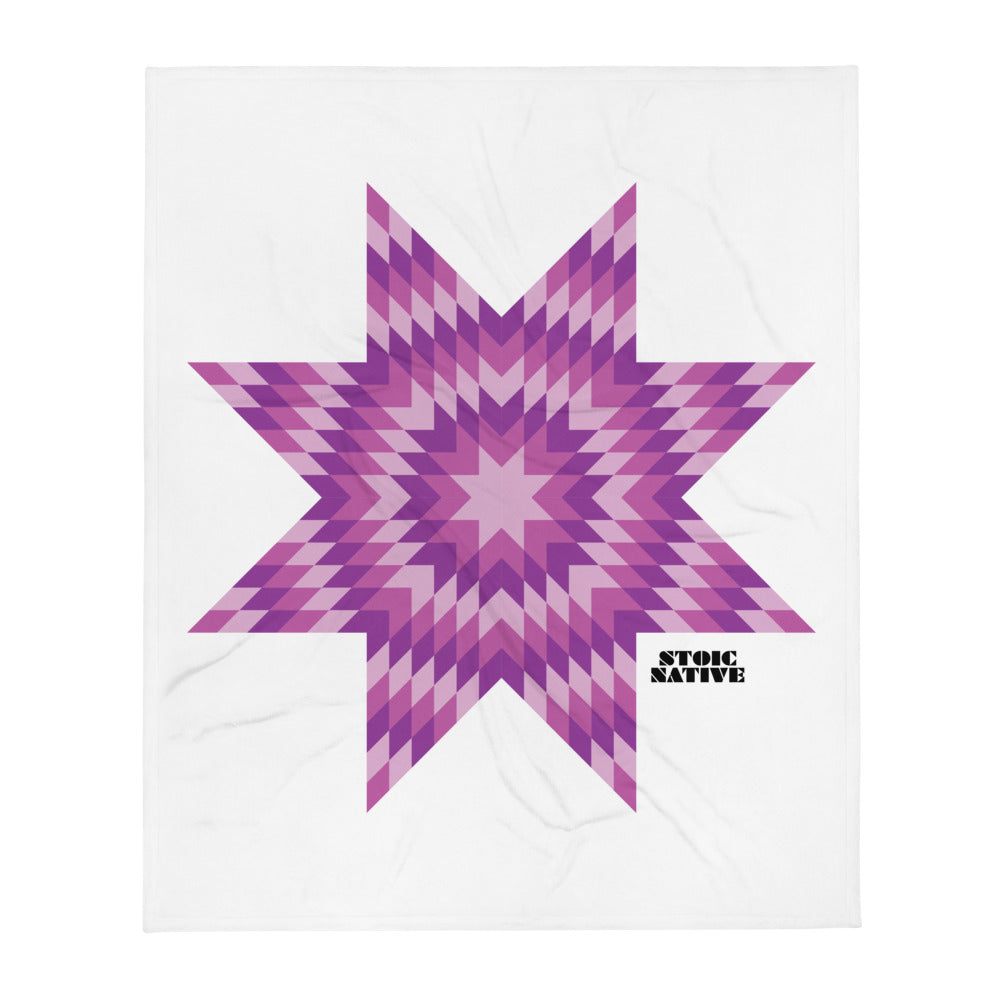 Purple Star Throw Blanket