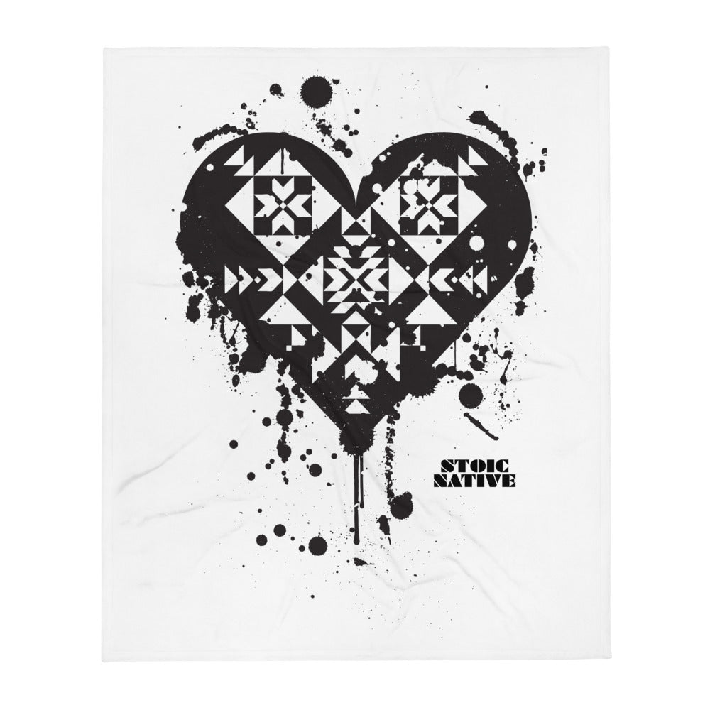 Splatter Heart Throw Blanket