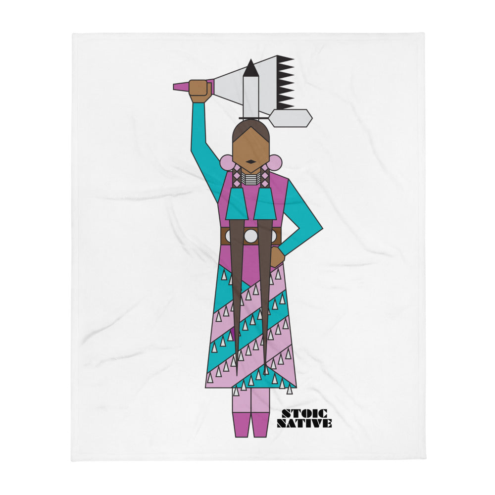 Jingle Dress Dancer Throw Blanket