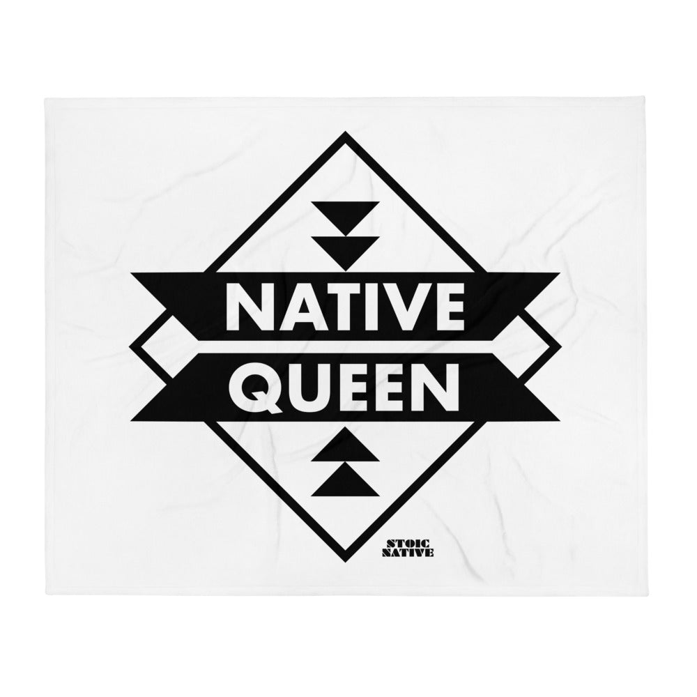 Native Queen Throw Blanket