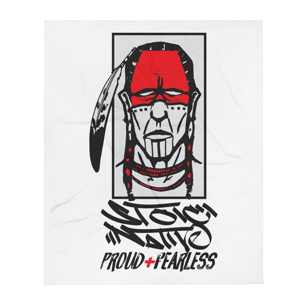 Stoic Native Blackbook Throw Blanket