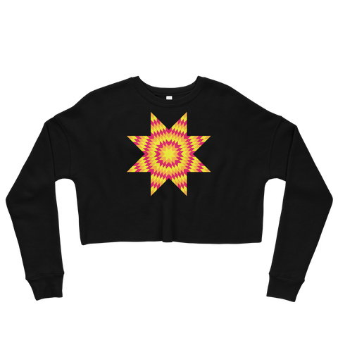 Sunburst Star Crop Sweatshirt