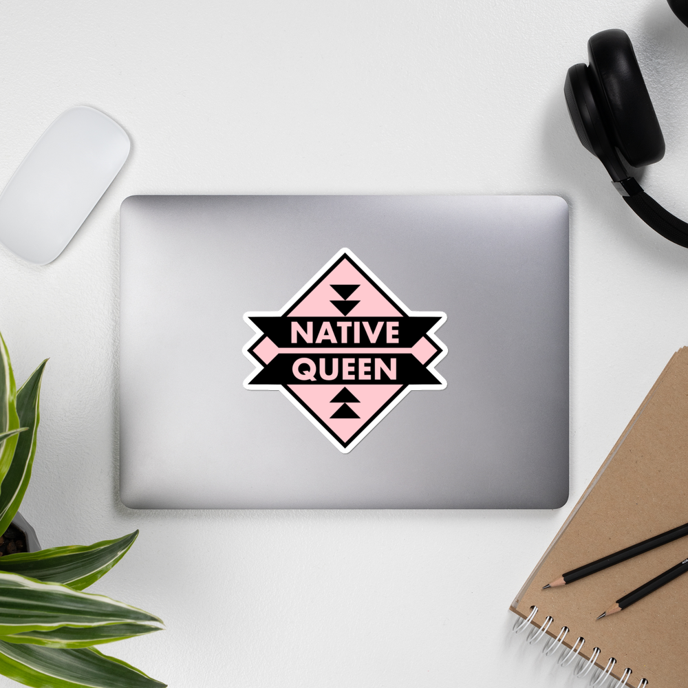 Native Queen Bubble-free stickers