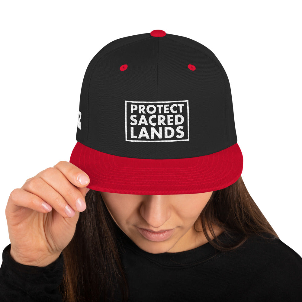 Protect Sacred Lands Snapback Hat