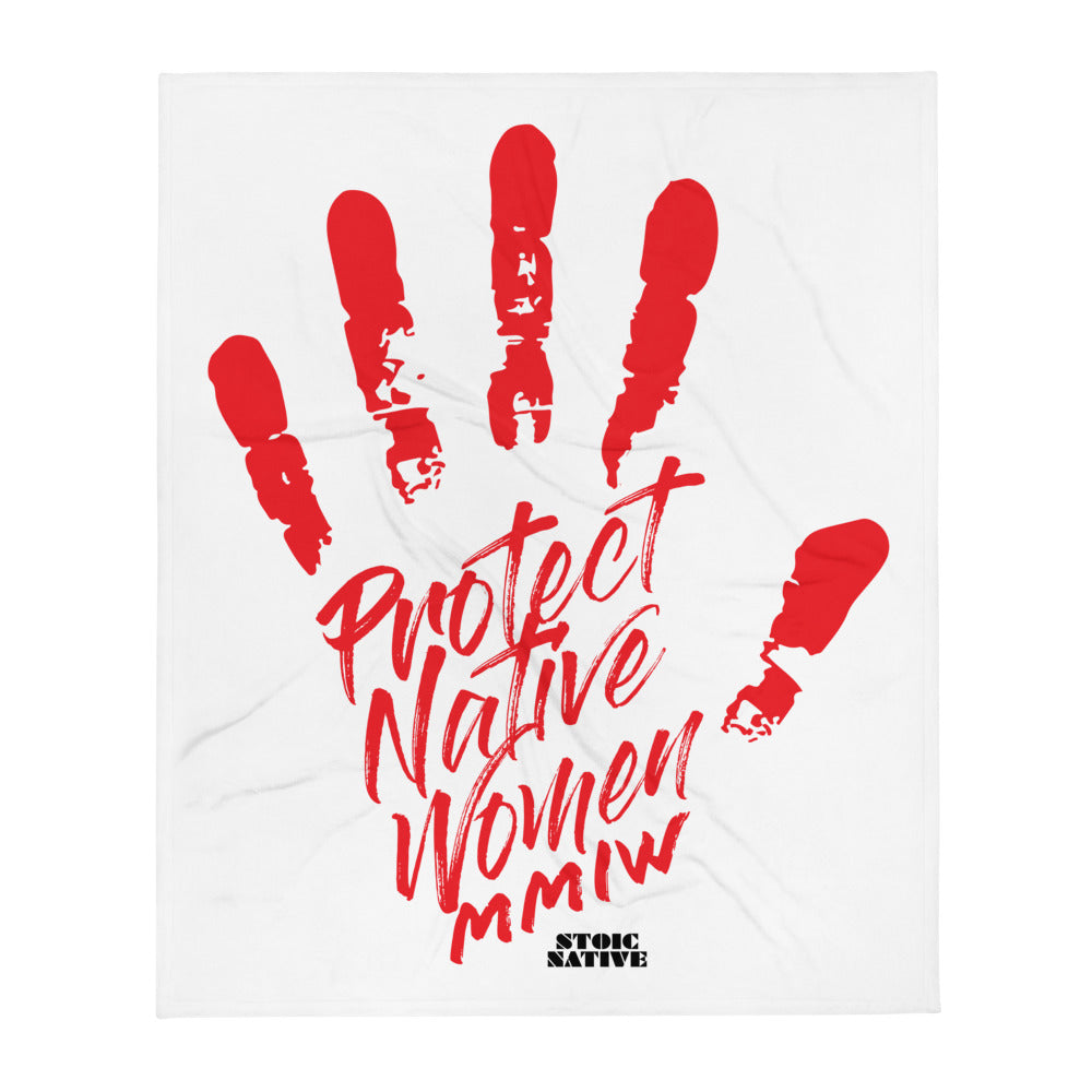 Protect Native Women MMIW Throw Blanket