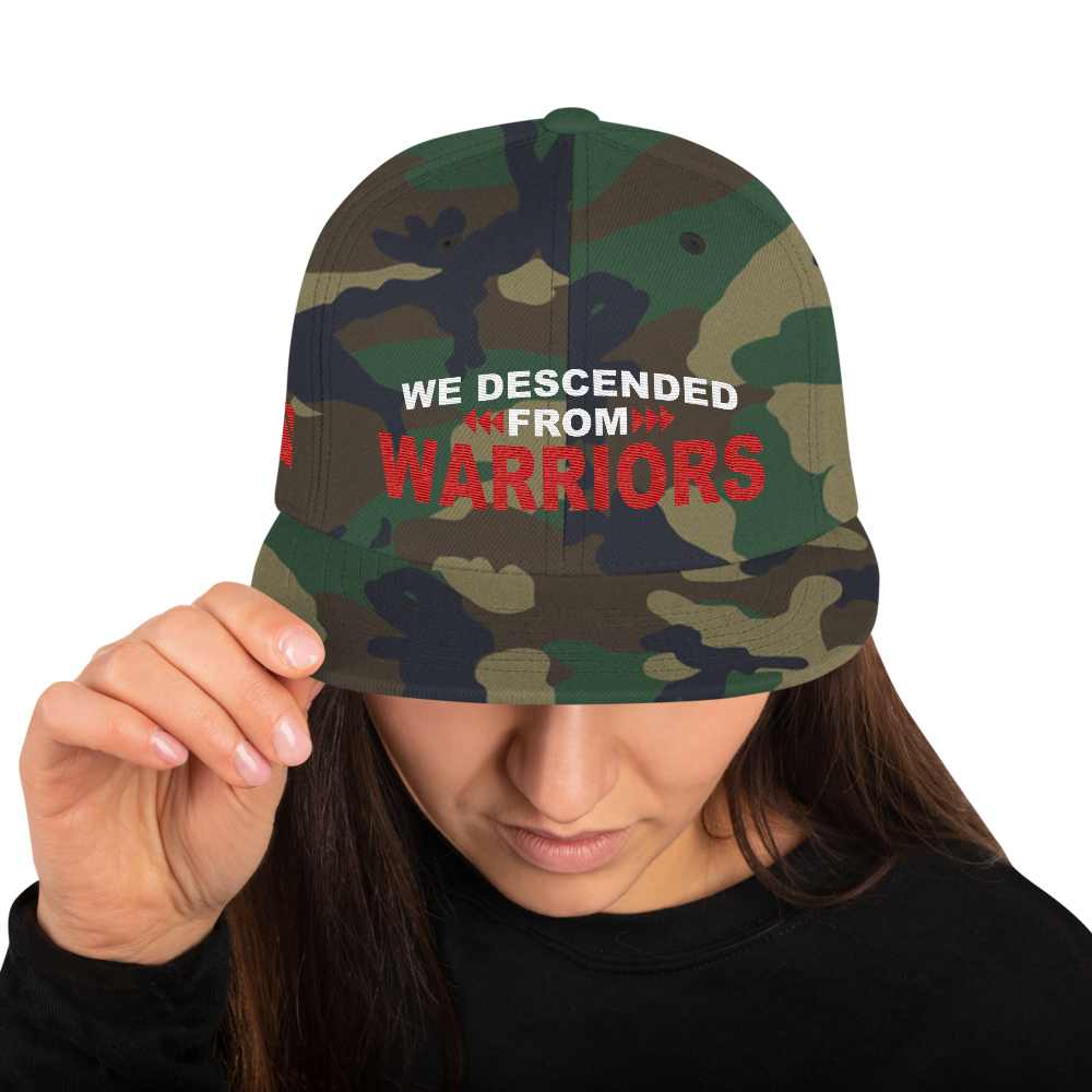 We Descended from Warriors Snapback Hat