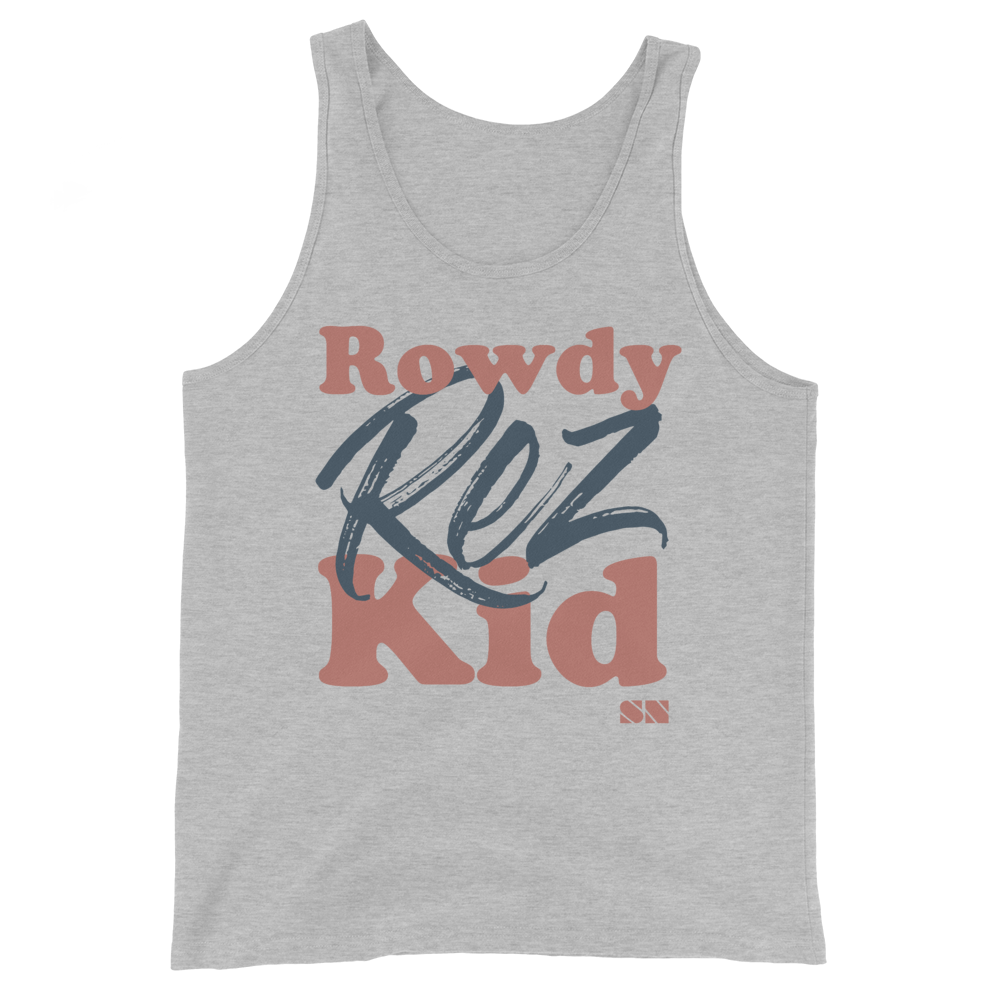 Rowdy Rez Kid Unisex Tank Top