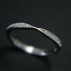 Sterling Silver And Cubic Zirconia Crossover Stacking Ring | Kelabu Jewellery