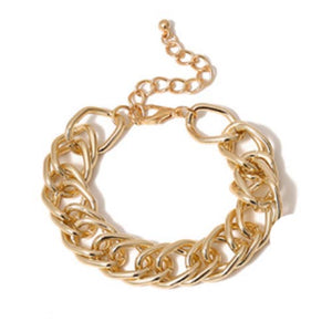 Cunky Gold Link Chain Bracelet
