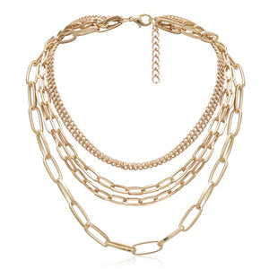 Gold Chain Multi Layered Necklace | Chain Necklaces | Kelabu Jewellery