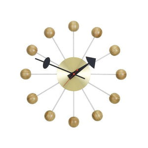 Wall Clocks Ball Clock Cherry by George Nelson,1948~1960 - Decorative Element | Vitra