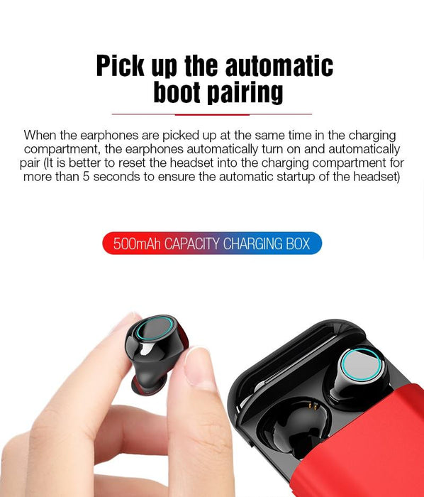 Bluetooth headset Bluetooth 5.0 RQ11 TWS with Powerbank