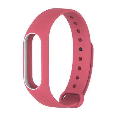 Dichromatic strap of thermoplastic elastomer for Xiaomi Mi Band 2