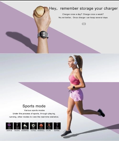 Smart Fitness Watch Vektros V11 Waterproof IP67 Pulse, Pedometer, Blood Pressure