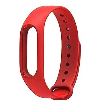 Red silicone strap Xiaomi Mi Band 2