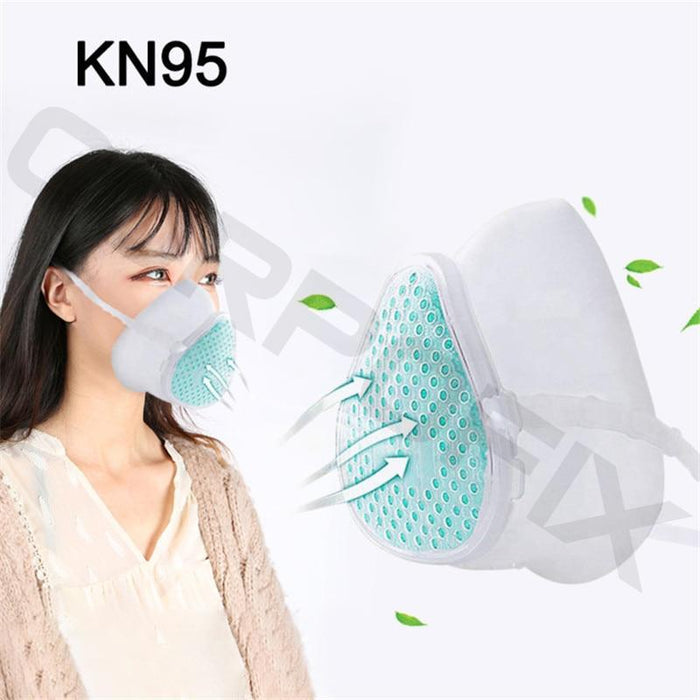 Silicone mask Corpofix CM3 for easy breathing, reusable with replaceable filter 5, KN95