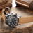 Men's waterproof quartz watch with leather strap OCHSTIN GQ043B