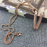 Copper necklace with holder Fitbit / Fitbit Flex 2