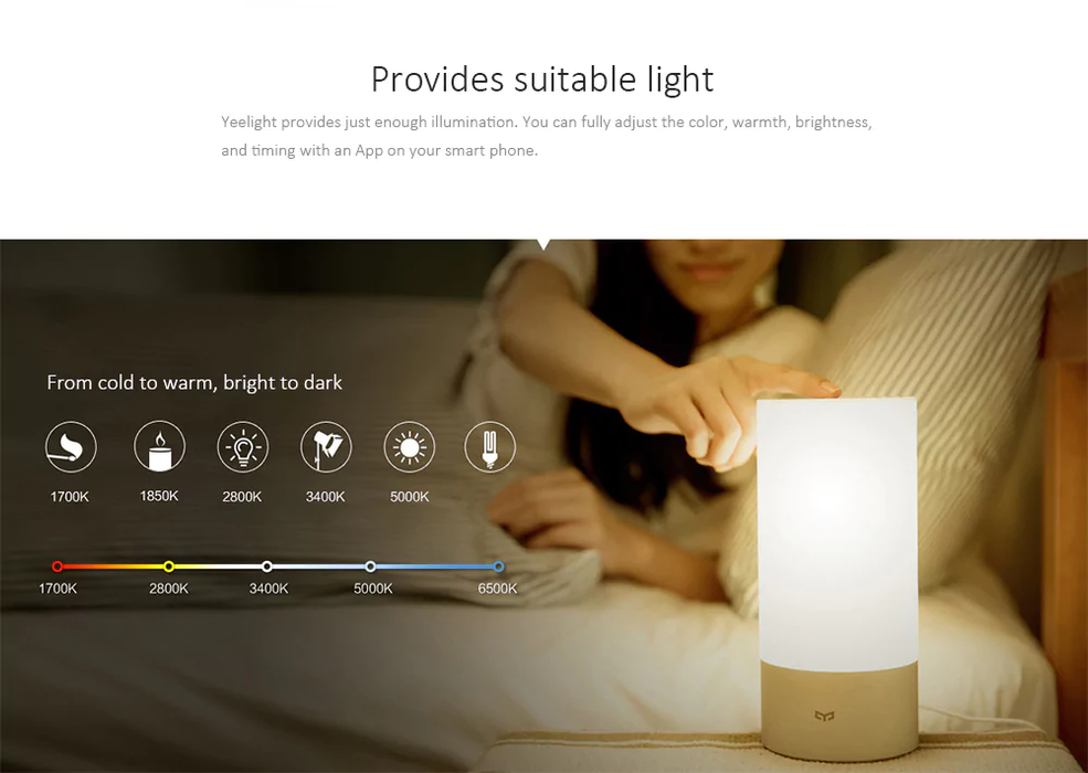 Smart Lamp bedside table Xiaomi Mijia - Bluetooth, WiFi, App