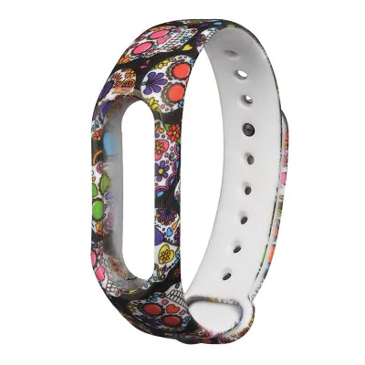 Hand painted color strap of thermoplastic polyurethane Xiaomi Mi Band 2