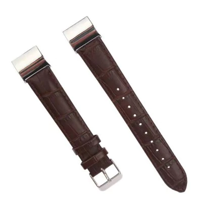 Strap embossed crocodile leather Fitbit / Fitbit Charge 2