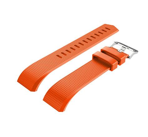 Orange silicone strap Fitbit / Fitbit Charge 2
