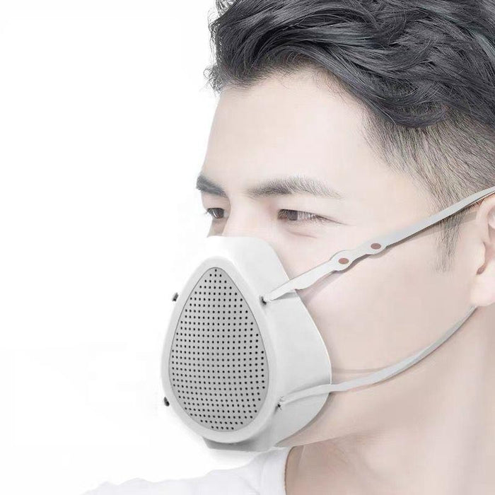 Electric Silicone mask with fan CM2 for easy breathing, reusable with 6 replaceable filters