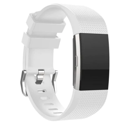 White silicone strap Fitbit / Fitbit Charge 2