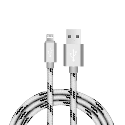 Braided aluminum charging cable 2 m for iPhone 5/6/7/8 / X / XS / XR