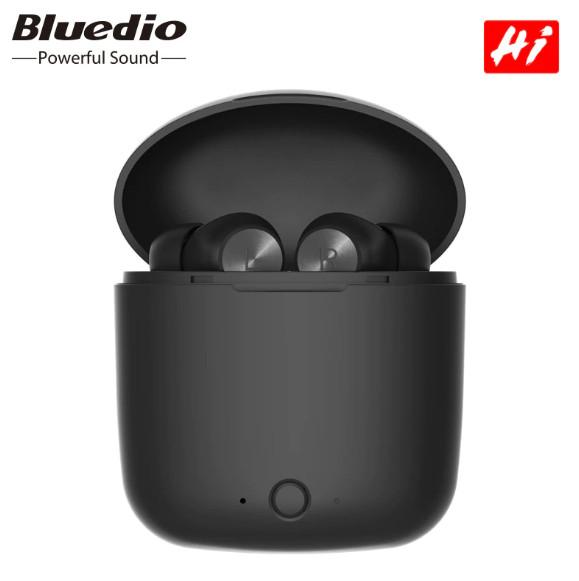 Hi Bluedio Wireless Bluetooth 5.0 headset, Noise Reduction, Facial Recognition, TWS, 3D Stereo, Powerbank Case