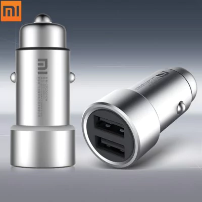 Smart Dual USB Car Charger metal Xiaomi