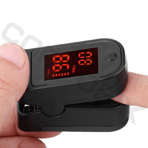 Corpofix oximeter for measuring the oxygen saturation in blood, a finger
