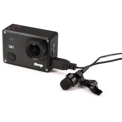 Mini USB microphone action camera GoPro Hero 3 + / 4 and GitUp Git1 / Git2