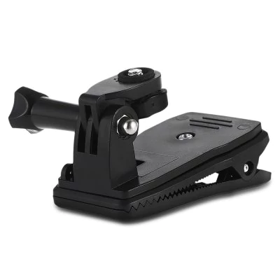 Rotating 360 degrees clip with screw backpack for GoPro Hero / SJCam / GitUp / Xiaomi Yi