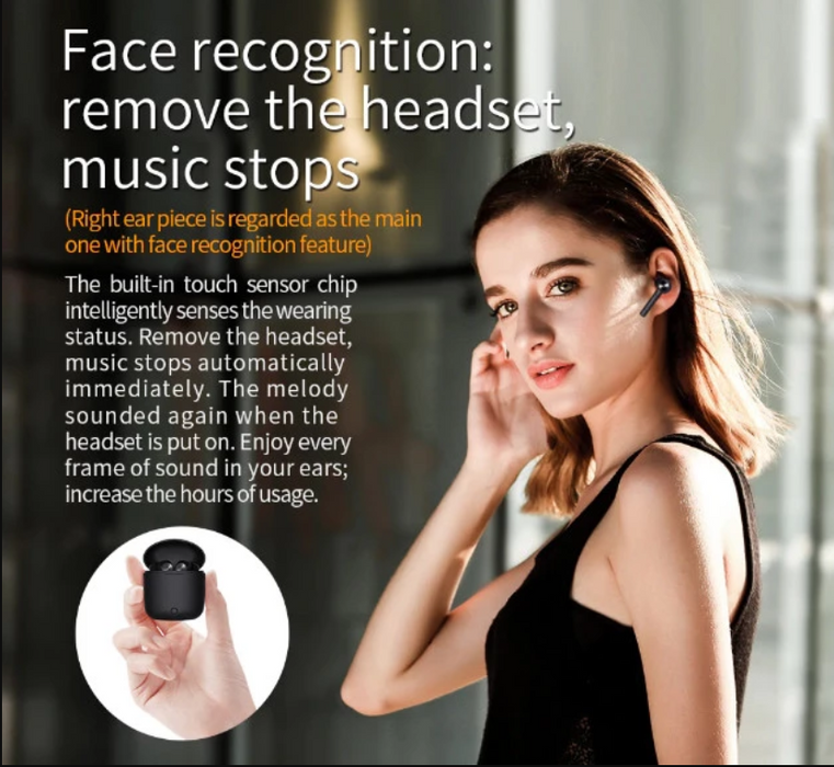 Bluedio Hi Wireless Bluetooth 5.0 Headset, Squelch, Face Recognition, TWS, 3D Stereo, Powerbank Case